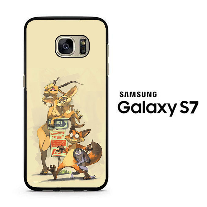 Zootopia Nick And Gazelle Samsung Galaxy S7 Case