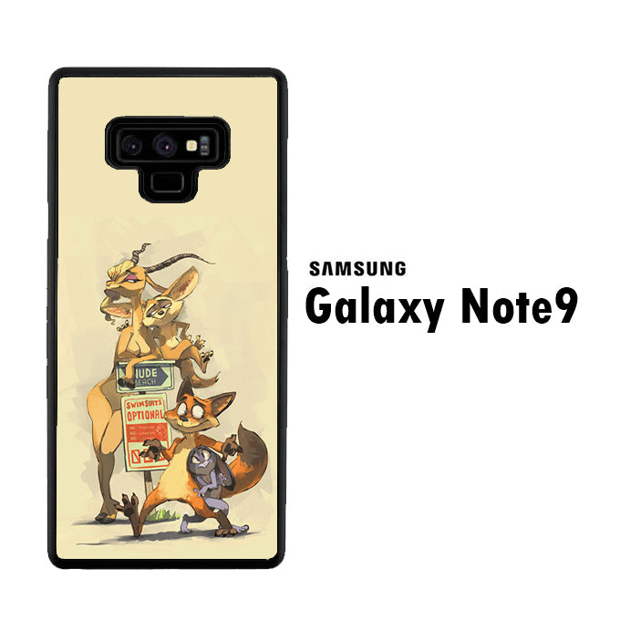 Zootopia Nick And Gazelle Samsung Galaxy Note 9 Case