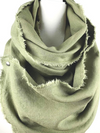 Andrea Turquoise Linen Snap Scarf