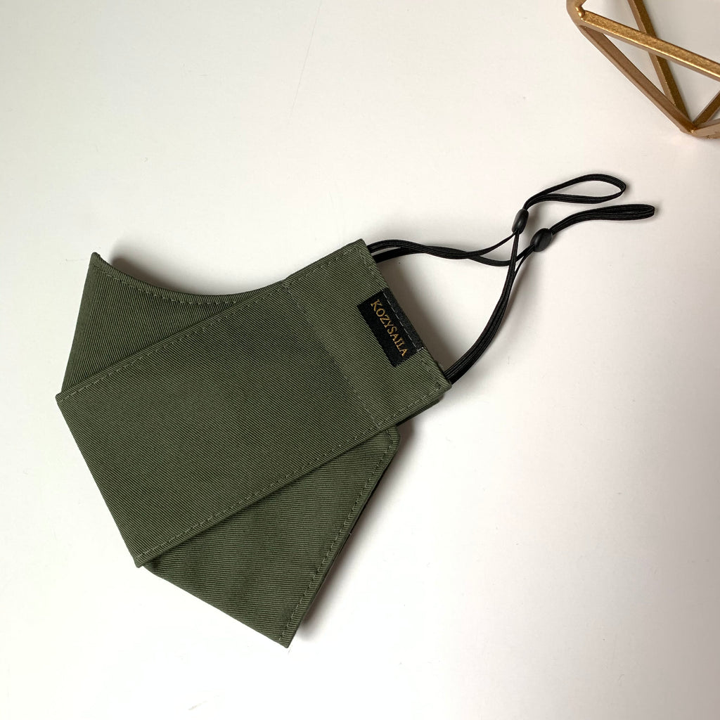 KozySaila | CLAUDIA Pop Up Mask | Army Green