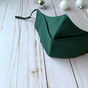 Claudia Pop Up Mask | Dark Green