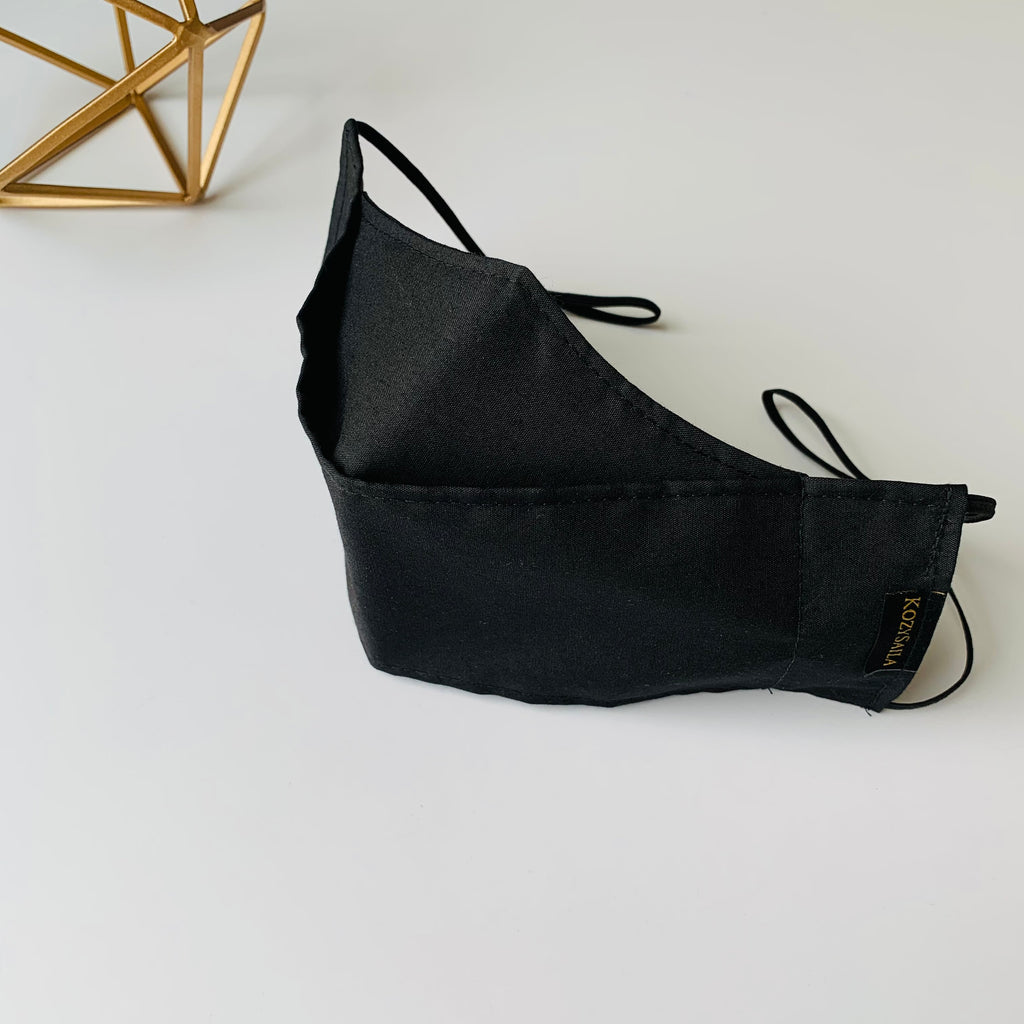 KozySaila | Luna Pop Up Mask | Solid Black