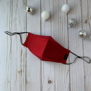 Claudia Pop Up Mask | Dark Red