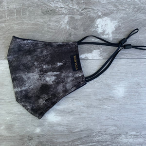 New! Reversible Fitted Face Mask | Marble Black