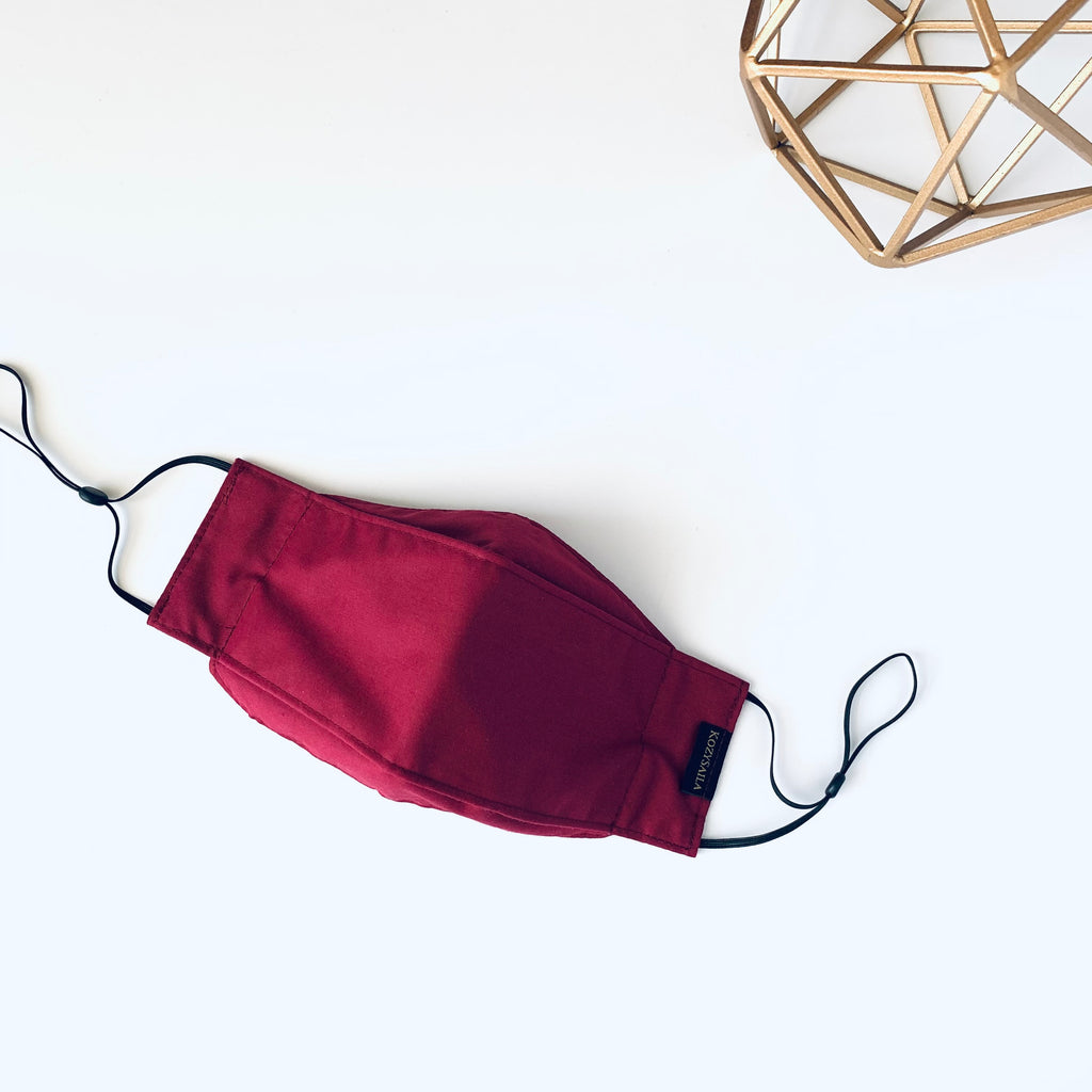 KozySaila | SORA 3-Layer Pop Up Mask | Burgundy