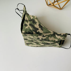 KozySaila | LUNA Pop Up Mask | Army Green Camo