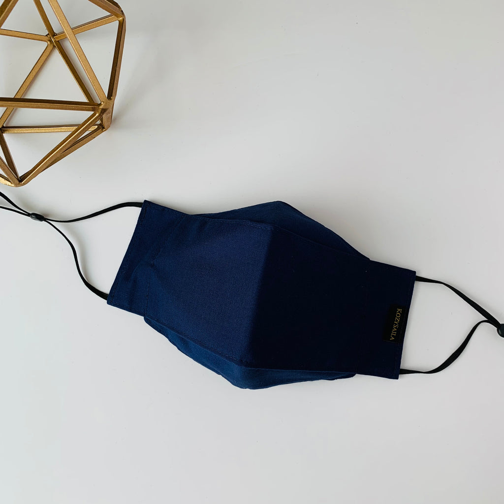 KozySaila | Luna Pop Up Mask | Navy Blue