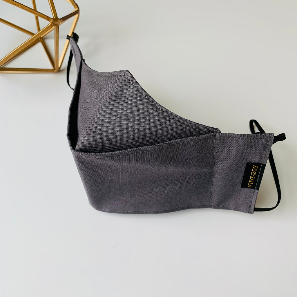 KozySaila | Luna Pop Up Mask | Charcoal Gray