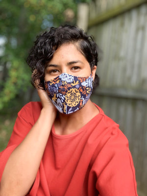 Claudia Pop Up Mask | Navy Blue