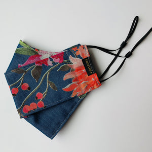 KozySaila | Luna Pop Up Mask | Denim Floral