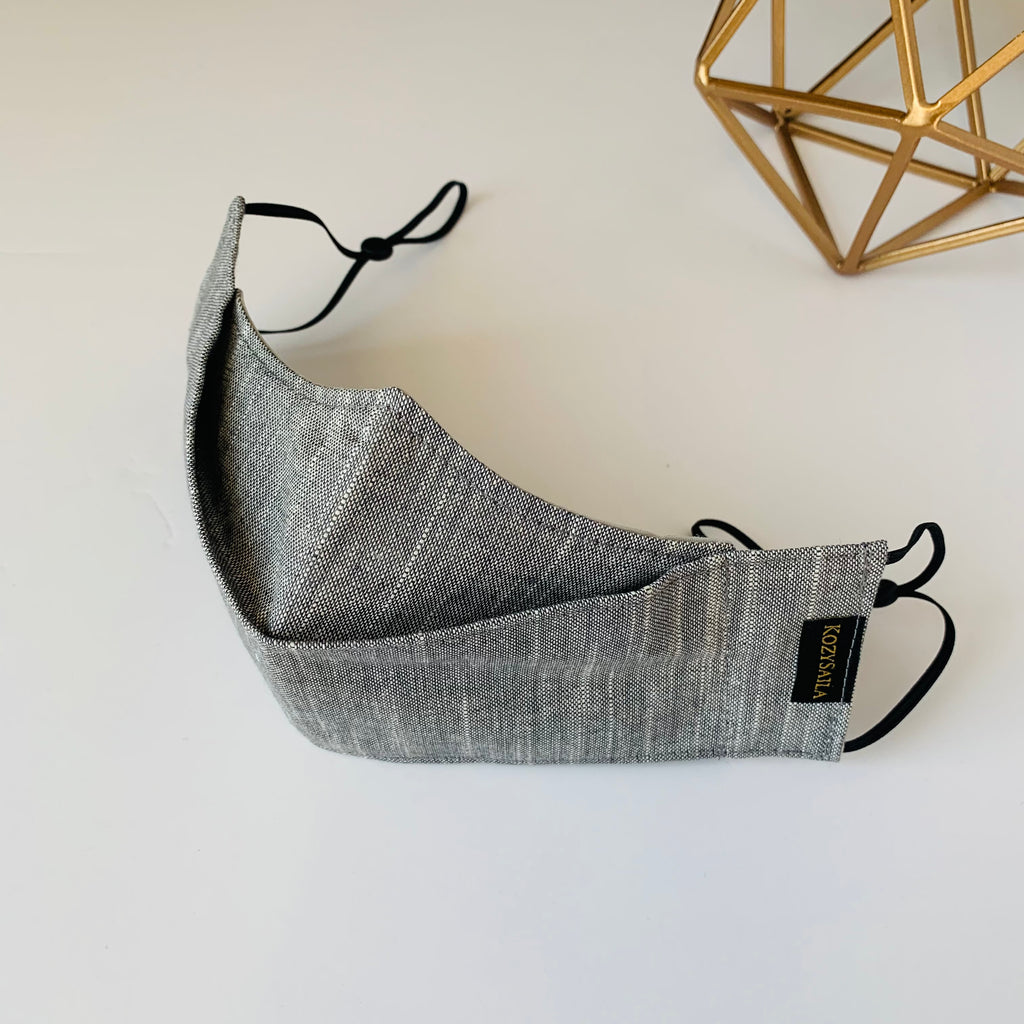 KozySaila | CLAUDIA Pop Up Mask | Light Gray