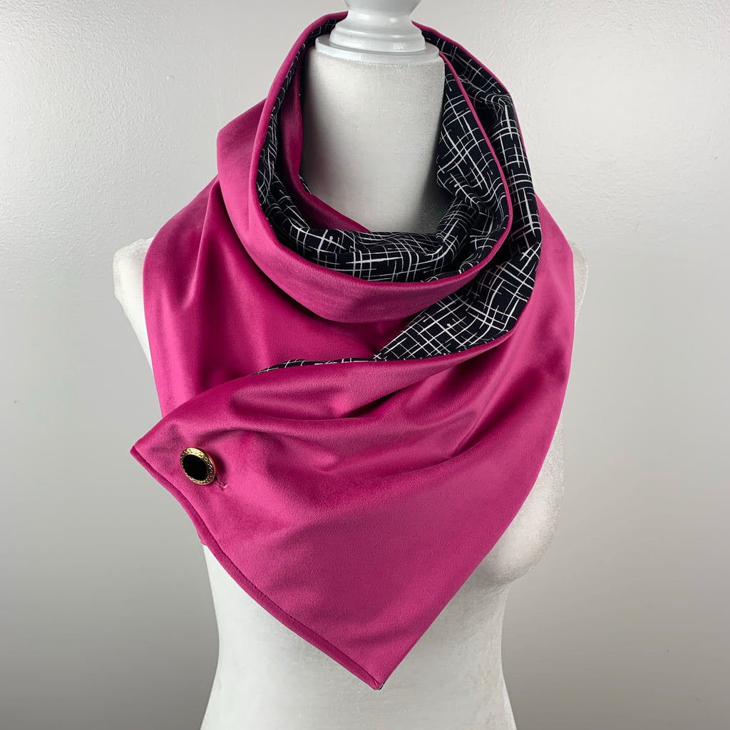 Wanda Pink Modern Reversible Scarf | Special Edition