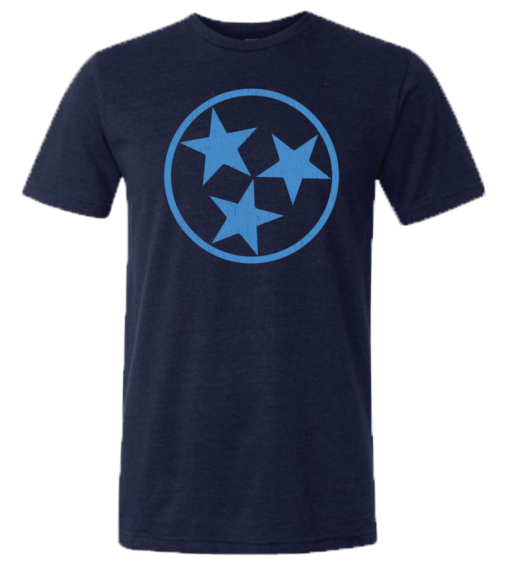 Navy Triblend with Blue TriStar