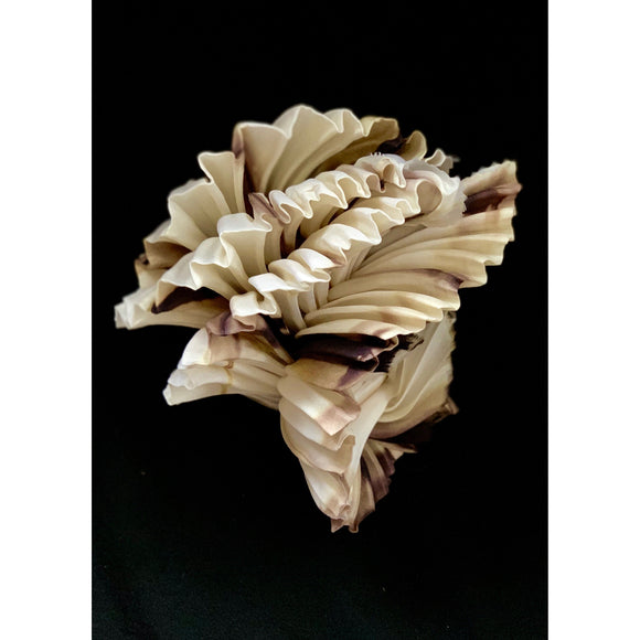 Variegated White/Brown Twisted Object