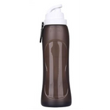 BPA FREE Reusable 500ml Silicone Foldable Water Bottle