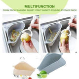 Triangle Kitchen Sink Shelf Drain Rack Hanging Storage Holder Basket