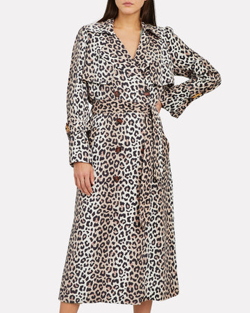 Notes Du Nord Leopard Olympic Trench Coat