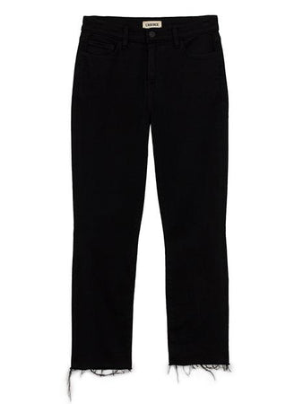 L'AGENCE Sada High Rise Crop Slim, Black