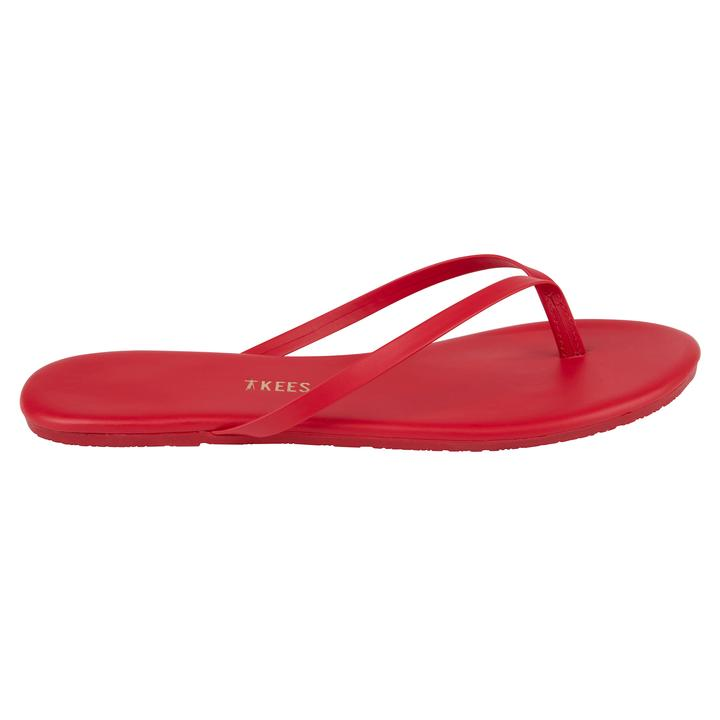 TKEES Solids Sandal, No.19 Red