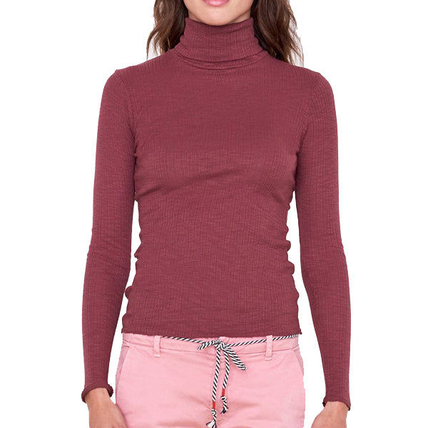 Sundry Long Sleeve Turtleneck, Cacao