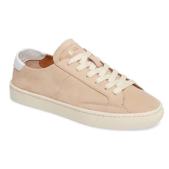 Soludos Ibiza Classic Lace Up Nude Sneaker