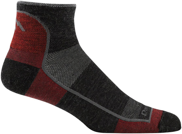 Darn Tough Mens 1715 Merino Wool 1/4 Crew Sports Socks