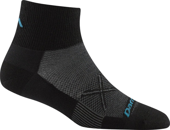 Darn Tough Womens 1761 Merino Wool 1/4 Crew Running Socks