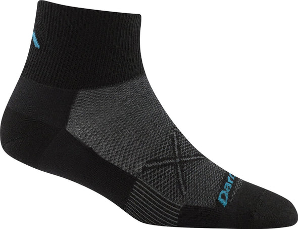Darn Tough Womens 1764 Coolmax 1/4 Crew Running Socks
