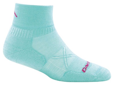 Darn Tough Womens 1766 Coolmax 1/4 Crew Running Socks