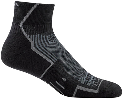 Darn Tough Mens 1003 Merino Wool 1/4 Crew Sports Socks