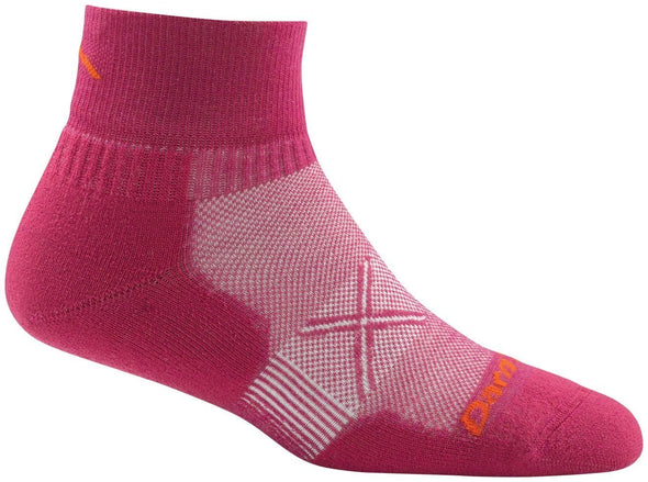 Darn Tough Womens 1761 Merino Wool 1/4 Crew Running Socks Special Pricing! 33% Off!