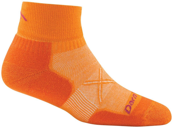 Darn Tough Womens 1766 Coolmax 1/4 Crew Running Socks Special Pricing! 33% Off!
