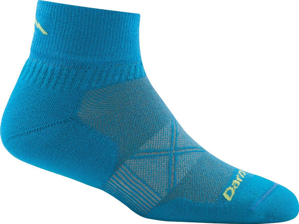 Darn Tough Mens 1773 Coolmax 1/4 Crew Running Socks