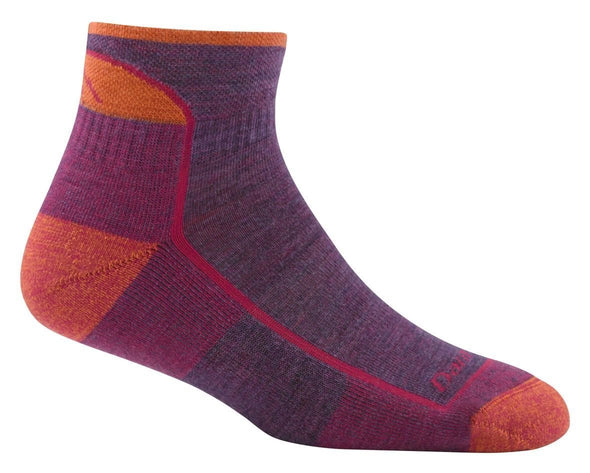Darn Tough Womens 1901 Merino Wool 1/4 Crew Hiking Socks