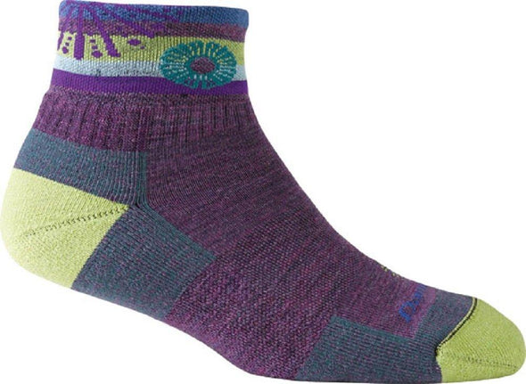 Darn Tough Womens 1915 Merino Wool 1/4 Crew Hiking Socks