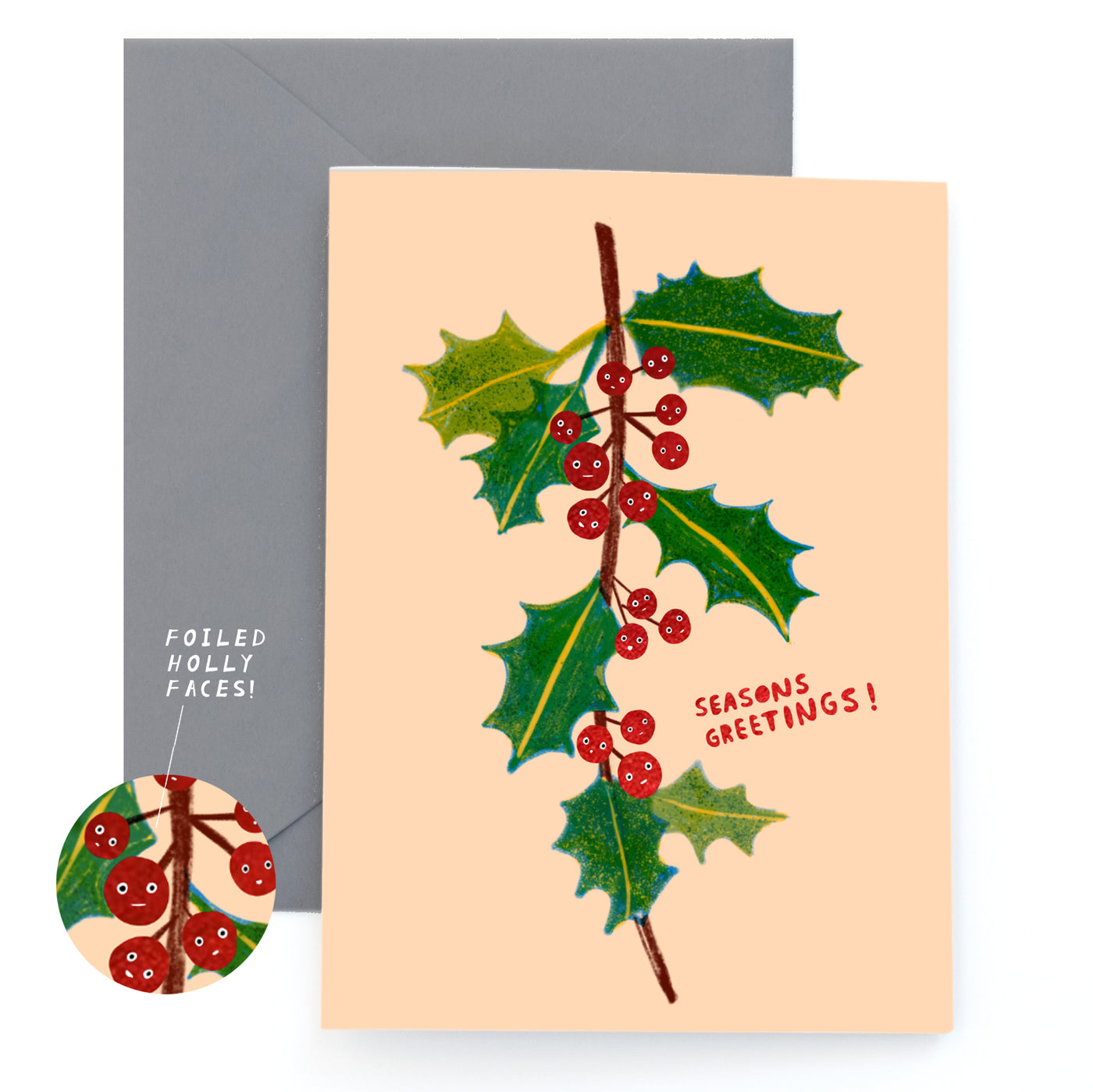HOLLY FACES - Holiday Card