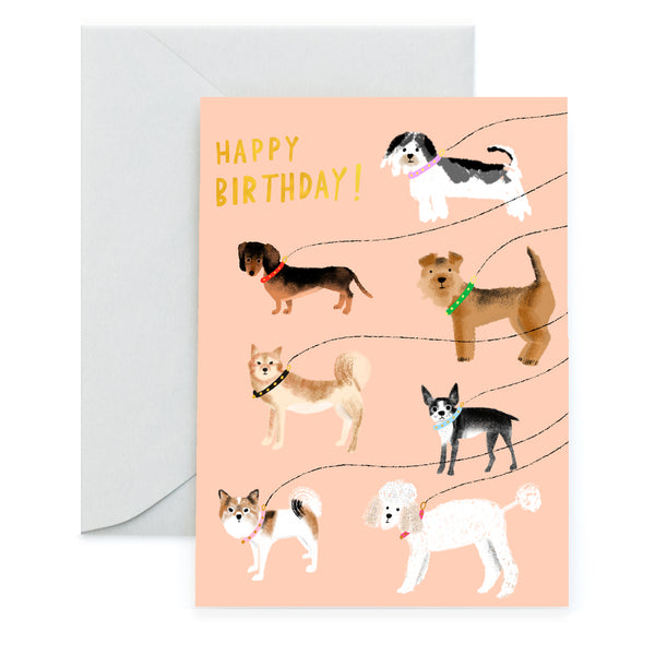 OUT FOR A WALK 2020 - Birthday Card