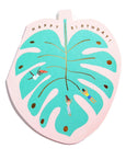 MONSTERA LEAF - Shaped Birthday Card