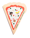 PIZZA - Shaped Birthday Card
