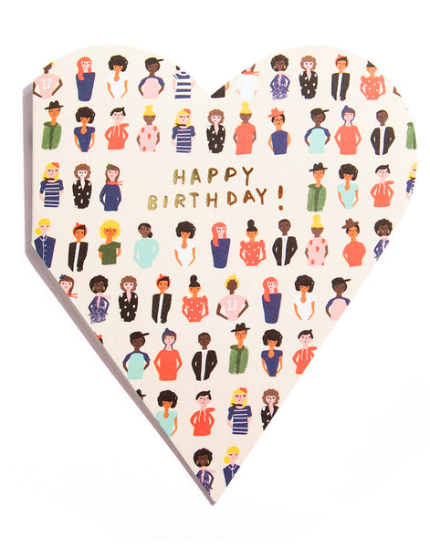 HEARTFELT FRIENDS - Shaped Birthday Card
