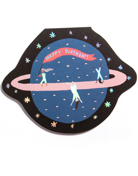 PLANET FUN - Shaped Birthday Card