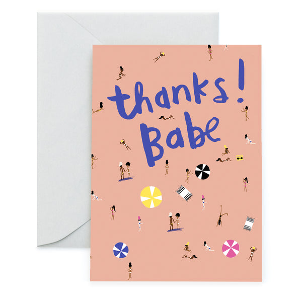 BEACH BABES - Thank You Card