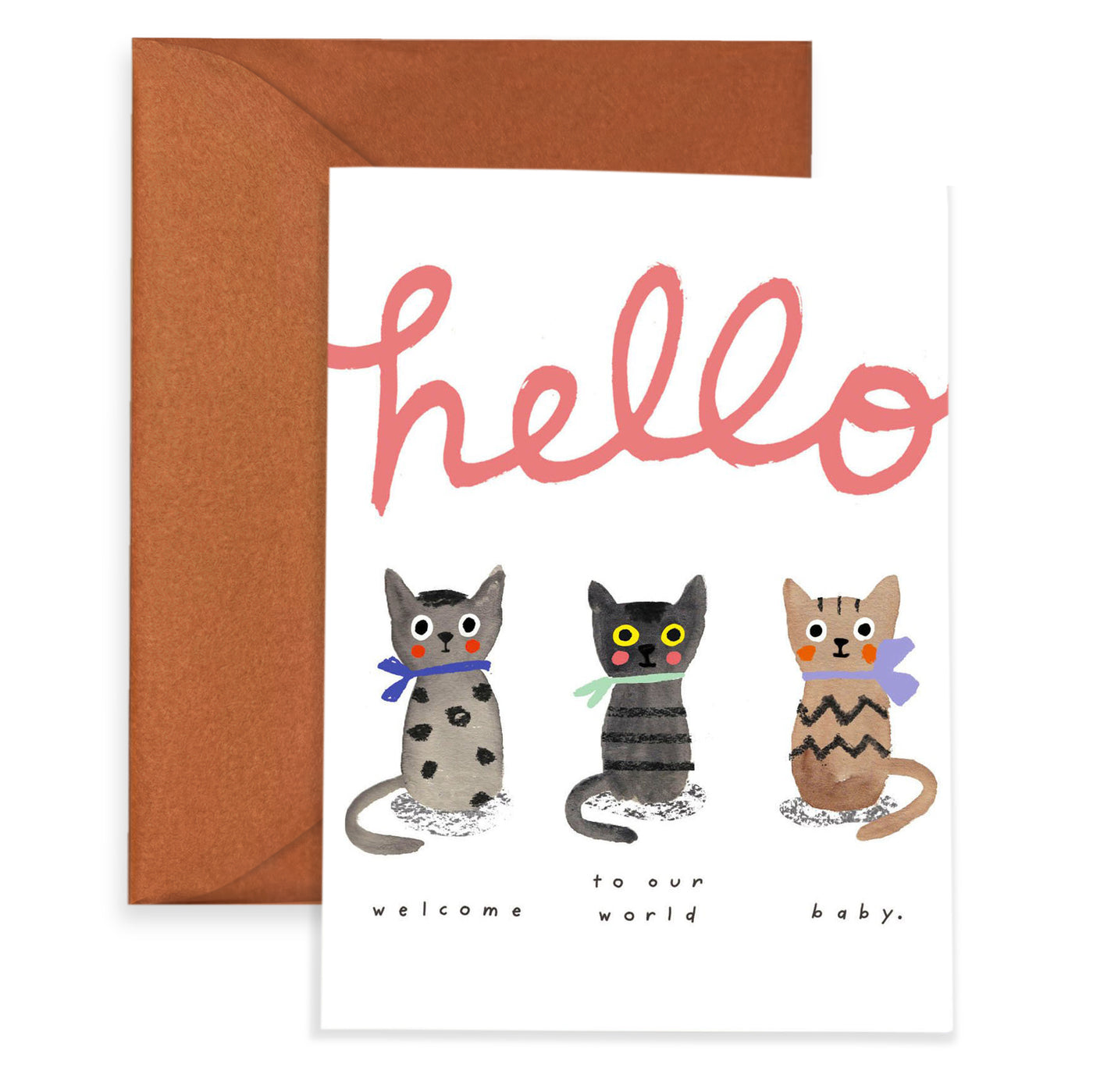 THREE LITTLE KITTENS - Baby Card