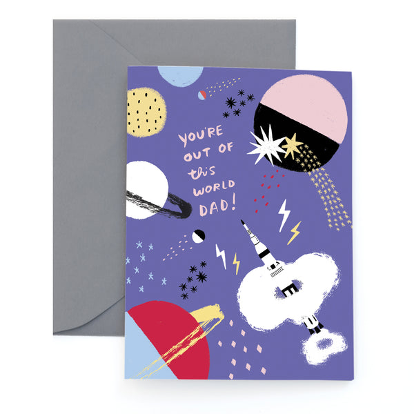 COSMIC DAD - Father's Day Card