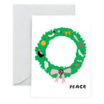 PEACE WREATH - Holiday Card