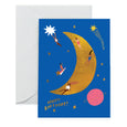 MOON LANDING - Birthday Card