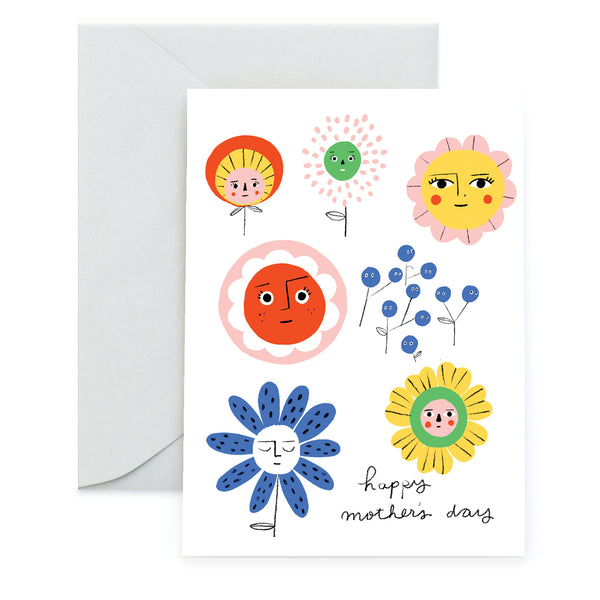 FLOWER MUGS - Mother's Day Card
