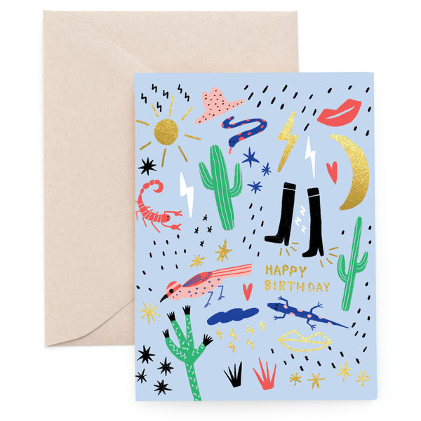 CALIFORNIA SUN - Birthday Card