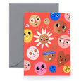HAPPY FACES - Birthday Card