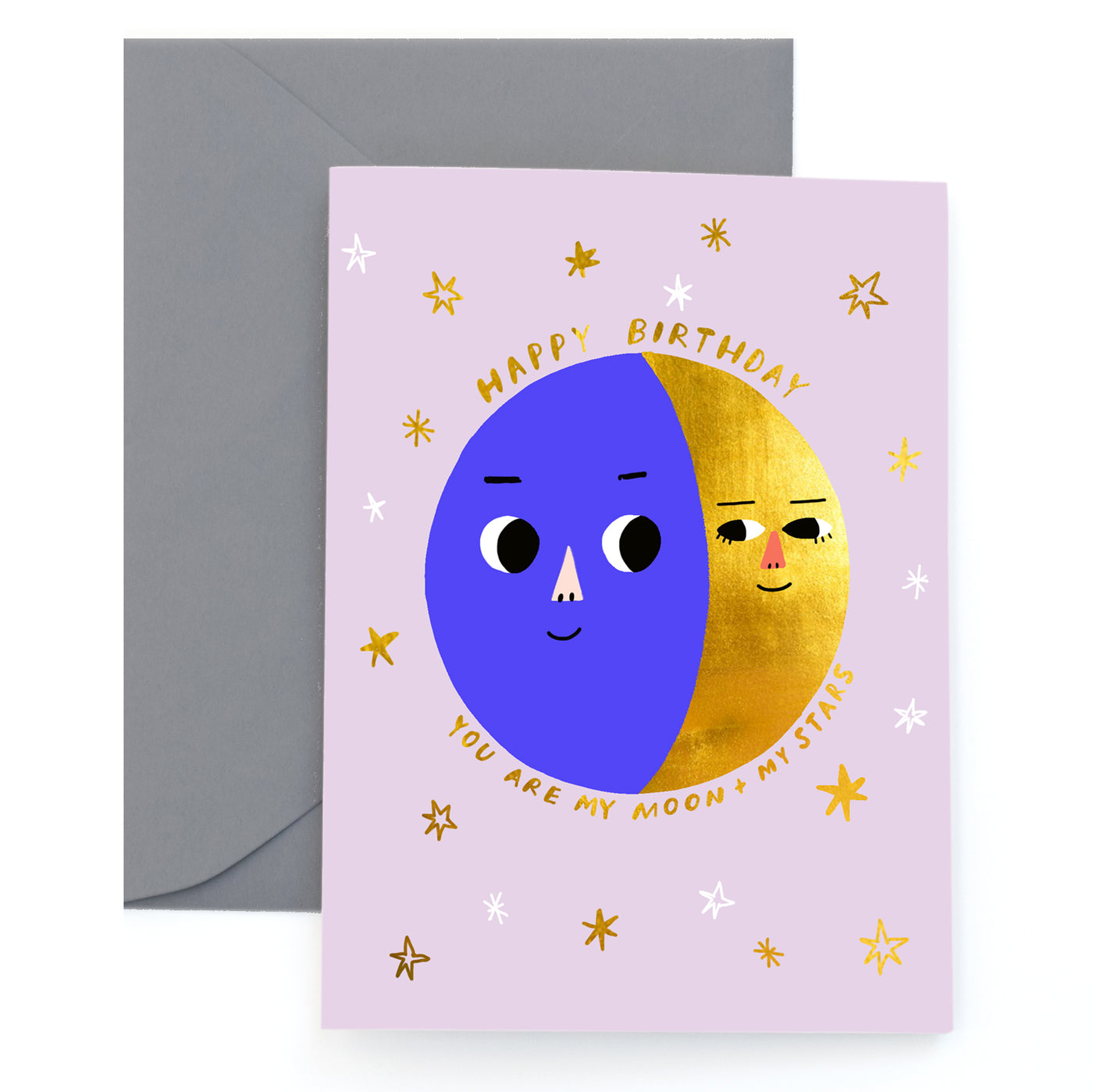 MOON PHASES - Birthday Card